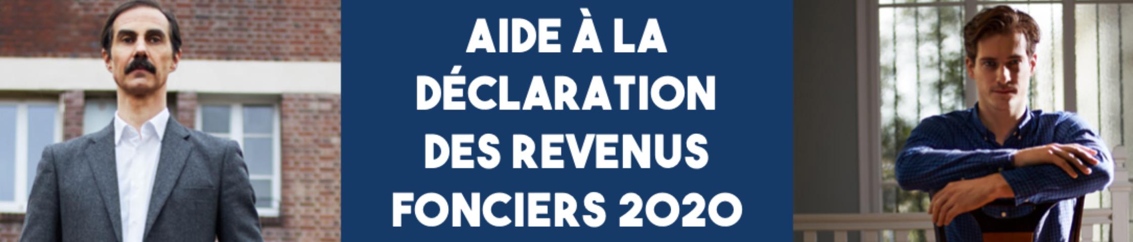 Aide à la déclaration des revenus fonciers 2020